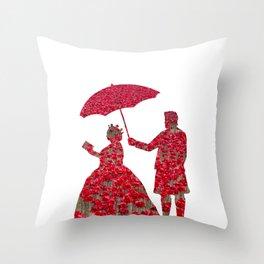Poppy Queen Throw Pillow