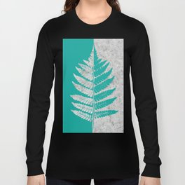 Natural Outlines - Fern Teal & Concrete #180 Long Sleeve T-shirt