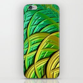 patterns green yellow string iPhone Skin