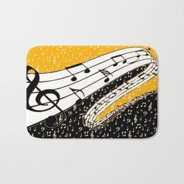 Gold music theme Bath Mat