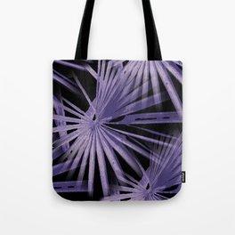Violet On Black Tropical Vibes Beach Palmtree Vector Tote Bag
