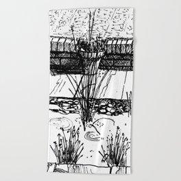 pond planting Beach Towel