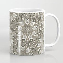 Nine Fold patter in beige Coffee Mug