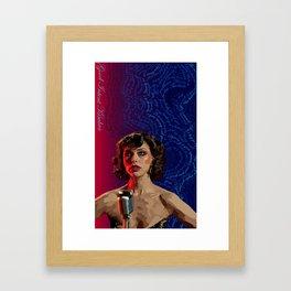 Good Intent Kimbra Framed Art Print
