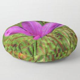 DeepDream Flowers, Wild Flower, DeepDream style Floor Pillow