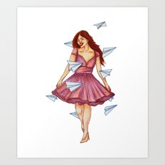 On A Breeze Art Print
