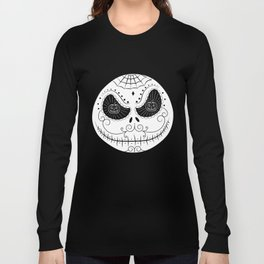 Jack's Skull Sugar (Vector Mexican Skull) Long Sleeve T-shirt