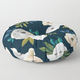 10be72c17046 Midnight Florals - Blue   Cream Floor Pillow
