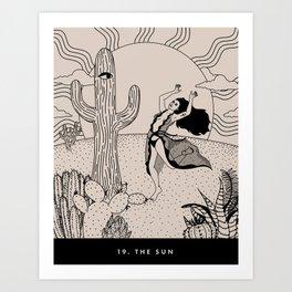 19. THE SUN Art Print