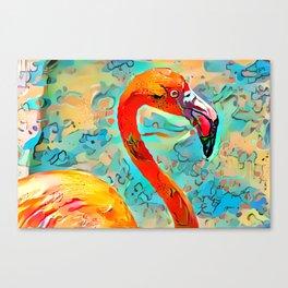 Painted Flamingo Canvas Print