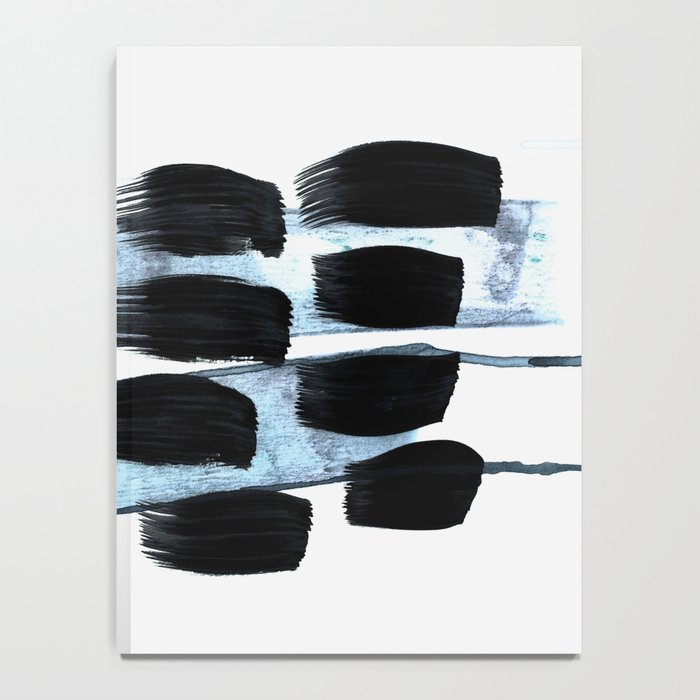 black white blue Notebook