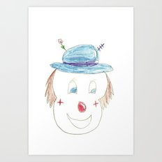 Childhood Drawings (clown) Art Print