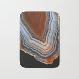 Layered agate geode 3163 Bath Mat