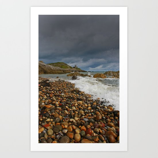 Mumbles Lighthouse Art Print