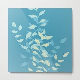 Teal Botanical Metal Print