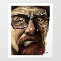heisenberg Art Prints featuring Heisenberg by Al Barazi