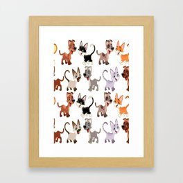 Cute Cats and Dogs Framed Art Print