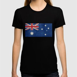 "Australian flag, retro ""folded"" textured version (authentic scale 1:2) T-shirt"