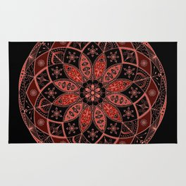 Autumn Fall Mandala Spirograph Art Pattern Design Rosette Rug