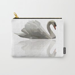 Geometric Swan Carry-All Pouch