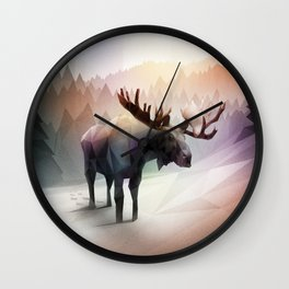 Moose (Low Poly Multi) Wall Clock