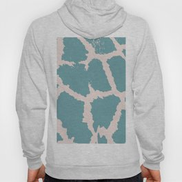 Giraffe pattern Off Green and Pink Hoody