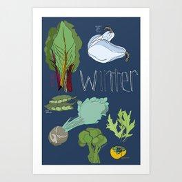 Fresh from the Farmers Market: Winter Art Print