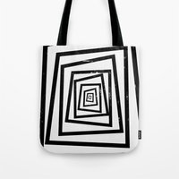 illusion Tote Bags featuring Illusion by Janet Datu