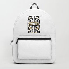 Northwest Pacific Coast American Native Totem Letter H Backpack