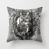eric fan Throw Pillows featuring Nightwatch - by Eric Fan and Garima Dhawan  by Eric Fan