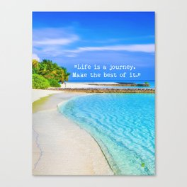 Life is a journey. Canvas Print