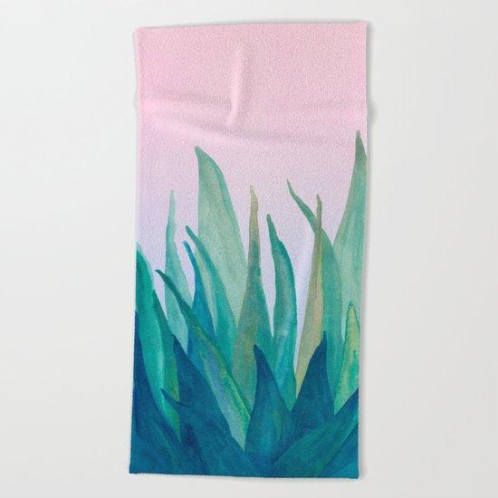 Botanical vibes 10 Beach Towel