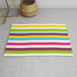retro roller stripes Rug