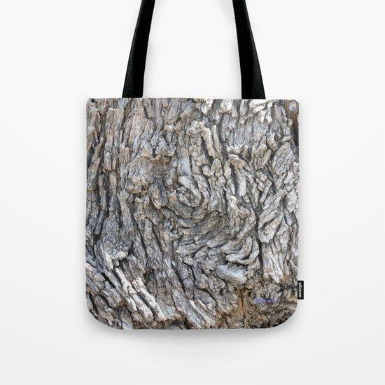 TEXTURES -- Blue Elderberry Bark Tote Bag