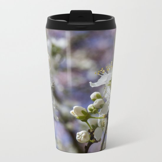 Cherry tree. Sakura. Metal Travel Mug