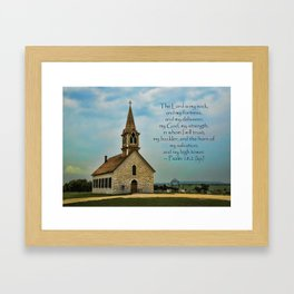 My God My Strength My Salvation Framed Art Print