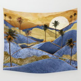 Desert Palm Trees at Dawn Wall Tapestry