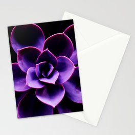 Ultraviolet Succulent Plant #decor #society6 #homedecor Stationery Cards