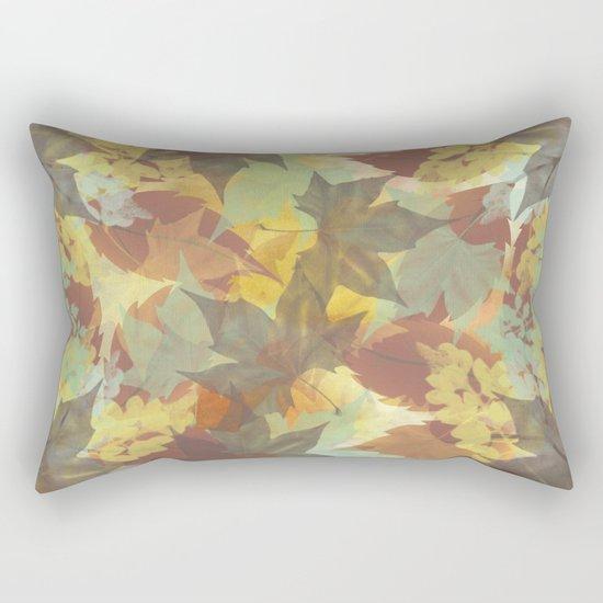 Autumn Leaves Abstract Rectangular Pillow