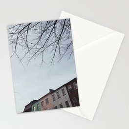 Pastel Homes Stationery Cards