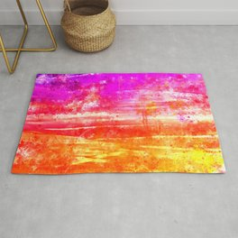 psychedelic sky clouds pattern wsstd Rug