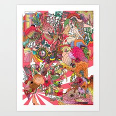Of the Hare Meadow Art Print