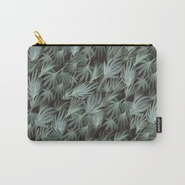Bloomartgallery_Emerald black palm leaves spring botanical pattern Carry-All Pouch