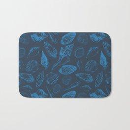 Tropical sea shells Bath Mat