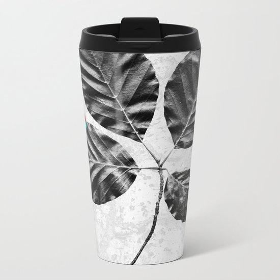 Abstract Flowers 4 Metal Travel Mug
