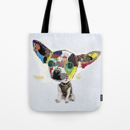 Chihuahua Colorful Dog POP Art Collage Tote Bag