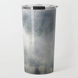 Limitless - Foggy Forest Nature Photography Travel Mug