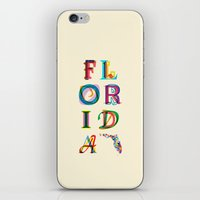 florida iPhone & iPod Skins featuring Florida by Fimbis