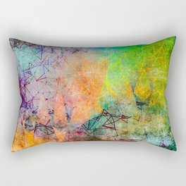 Vibrant Constellations Abstract Design Rectangular Pillow