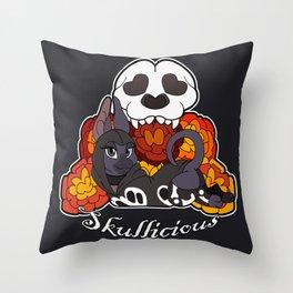 Skullicious Throw Pillow